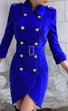 BLUE VELVET TRENCH DRESS COAT on Chiq  $158.00 http://www.chiq.com/blue-velvet-trnch-dress-coat