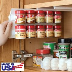 "Amazon.com - SpiceStor Organizer Spice Rack 20 Clip 10""D x 5""H - Spice Rack With Spices $13"