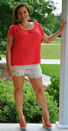76f5fdda606 Perfectly Priscilla Boutique - Lovely in Lace Short