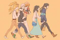D. Gray-man: people from left to right [ Howard Link, Allen Walker, Lavi, Lenalee Lee, Kanda Yuu]
