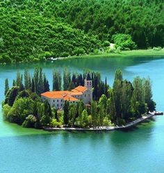 Visovac Island , Croatia. I want to live here.