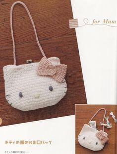 Patrones de cartera Hello Kitty crochet