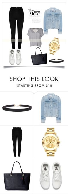 """""""look facul"""" by tamara-mendesas on Polyvore featuring beleza, Humble Chic, rag & bone, River Island, Movado, Tommy Hilfiger, Vans e Acne Studios"""