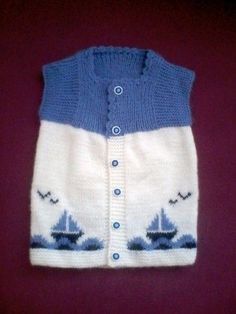 Ravelry: Argyle Vest Pattern By Patons - maallure Baby Cardigan, Baby Boy Vest, Baby Pullover, Baby Scarf, Knit Vest, Baby Knitting Patterns, Knitting For Kids, Knitting Designs, Baby Patterns