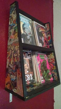 upcycled chest of drawers with marvel comic decoupage. Black Bedroom Furniture Sets. Home Design Ideas
