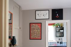 A lot of posters and artwork in the house were created by Nisha's graphic designer dad in the '60s and '70s.