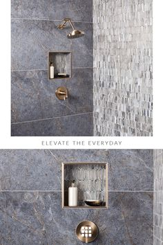 Explore mosaic tile patterns for your bathroom. Casa Patio, Bathroom Renos, Bathroom Ideas, Mosaic Tiles, Mosaic Bathroom, Bath Remodel, Beautiful Bathrooms, My New Room, Interior Design Kitchen