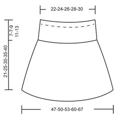 """Blushing Blue - Knitted DROPS skirt with lace pattern in """"Alpaca"""". Size 2-10 years - Free pattern by DROPS Design"""