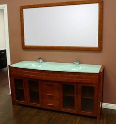 Paris 60-Inch Espresso Double-Sink Bathroom Vanity With Mirrors modern bathroom vanities - for more go to >>>> http://bathroom-a