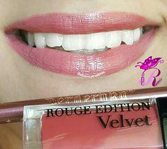 """هذا #أحمر_الشفاه اللي استعملته اليوم Showing my #lips of the day using Serdechko Lipliner N60 in """"Pecan"""" from El Corazón and Romantic Bird-Rouge Edition Velvet #06"""