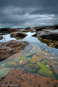 Low Tide :: Avalon Beach    Rock shelf south of Avalon Beach at low tide  Northern Beaches, Sydney, Australia
