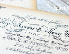 FairyTale Printable Wedding Invitation Happy Endings