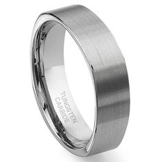 Tungsten Carbide Square Wedding Band Ring Sz 10.5 SN#455 - http://www.loveuniquerings.com/triton-rings/tungsten-carbide-square-wedding-band-ring-sz-10-5-sn455/