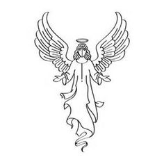 Attractive Angel Clipart Free Black And White   Yahoo Image Search Results