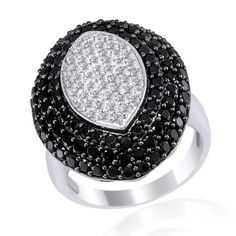Purchase Round Black Spinel With White Topaz In 925 Sterling Silver Cluster Ring # Free Stud Earrings from JewelryHub on OpenSky. Share and compare all Jewelry. Black Spinel, White Topaz, Best Settings, Stone Cuts, White Stone, Cluster Ring, Color Black, Black White, Stud Earrings