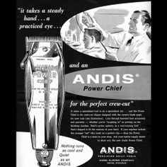 advertisement for Andis clippers
