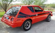 Classic little ugly car that I want to spin some brodies in. AMC Gremlin... I had one   rolled it!