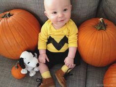 Baby Charlie Brown costume | EmilyMcCall.com