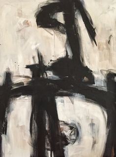 Black and white, abstract on canvas. A new path to travel for 2016 m, carrie penley
