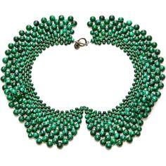 Masterpeace Malachite Bead Czar Collar Necklace