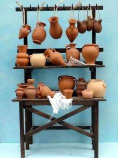 Christmas Village Display, Christmas Nativity Scene, Christmas Crafts, Ceramic Houses, Ceramic Clay, Miniature Crafts, Miniature Houses, Crib Accessories, Diy Nativity