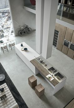 Contemporary Kitchen which Combines Planning Flexibility Technology and New Materials 3