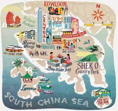 Travel.Food.Film: 3 Different Takes On The Hong Kong Map #hongkong #travel #wanderlust