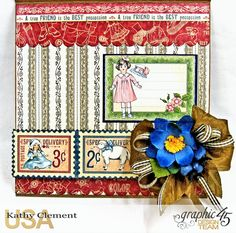 Paper Doll Easel Card Penny's Paper Doll Family by Kathy Clement Product by Graphic 45!