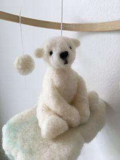 Needle Felted Polar Bear Mobile