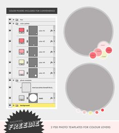 Freebie: Photo Layouts for Color Palette Posts ♥ Pugly Pixel