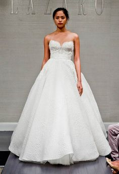A big ballgown done right! Lazaro Fall 2014 | The Knot Blog