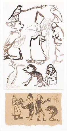 Paula Rego Study for Aida 1983 Ink on paper