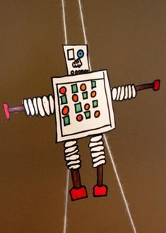 DIY robot Paper Climber - Simple toy and science experiment rolled into one Craft Activities For Kids, Projects For Kids, Craft Projects, Crafts For Kids, Easy Projects, Robots For Kids, Art For Kids, Paper Robot, Diy Robot
