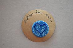 Chapa corazón azul