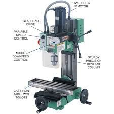 Black Friday 2014 Grizzly Mini Milling Machine from Grizzly Cyber Monday Delta Power Tools, Power Tools For Sale, Cheap Power Tools, Metal Mill, Industrial Power Tools, Cnc Milling Machine, Gear Drive, Tool Store, Machine Tools