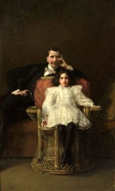 Portrait Group (Pere et Fille), 1898-1900 by Sir John Lavery (Irish 1856-1941) ....although Irish, Lavery spent much of his formative life and career in Scotland and was a central figure of The Glasgow Boys...
