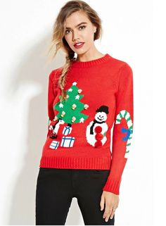 "Pin for Later: 16 ""Ugly Christmas Sweaters"" That Are Actually Really Cute  Forever 21 Holiday Graphic Sweater ($25)"