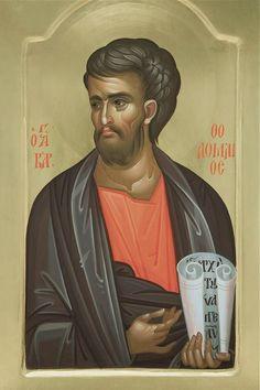 Thomas the Apostle Byzantine Icons, Byzantine Art, Saint Timothy, Thomas The Apostle, Greek Icons, Saints, Paint Icon, Pictures Of Jesus Christ, Religious Paintings
