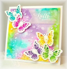 FS379 Colorwash Butterflies by bfinlay - Cards and Paper Crafts at Splitcoaststampers