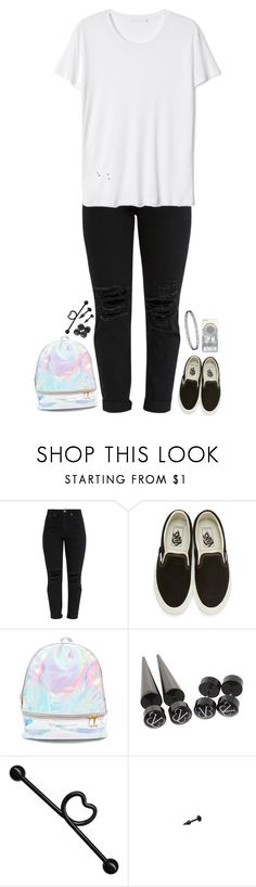 """""""Say goodbye and I won't miss you to the only pain I know"""" by xxghostlygracexx ❤ liked on Polyvore featuring Vans, 3 AM Imports and Hot Topic"""