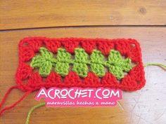 Un granny rectangular | Blog a Crochet – ACrochet – Tejidos y Patrones Gratis