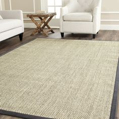 Safavieh Casual Natural Fiber Marble / Grey Sisal Area Rug (9' x 9') (NF443B-9SQ), Size 9' x 9'