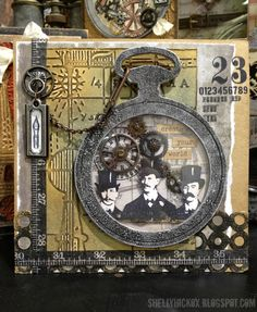 Shelly Hickox: Sizzix Alterations Pocket Watch Frame http://shellyhickox.blogspot.com/2013/01/create-your-world.html