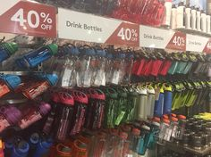 Reduce plastic waste and invest in a good water bottle they are all 40% off at #Kathmandu.  @kathmandugear