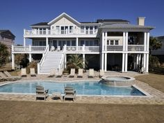 Isle Of Palms House Rental: Breathtaking Oceanfront Mansion! 7,000 Sq Ft-9 Bedrms/baths   HomeAway