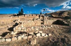 Uchkus Inkañan Inca archeological site Huancavelica.Peru
