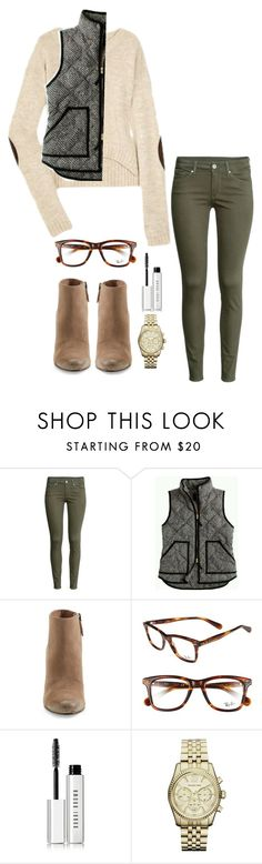 """Untitled #98"" by soccerstreak on Polyvore featuring H&M, J.Crew, Dolce Vita, Ray-Ban, Bobbi Brown Cosmetics and Michael Kors"
