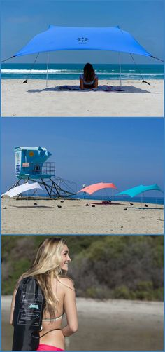 Neso Tent is a Lightweight, stakeless sun shelter for protection at your sunny destination. #affiliate