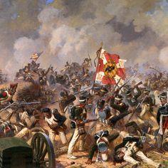 Vean el detalle de esta pintura! La resolucion esta increible para un wallpaper cultural!  Ataquen en la batalla  de borodino