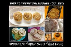 Few words but lots of delicious recipes! October 2013, Back To The Future, Beirut, Tahini, Swirls, Muffin, Middle, Yummy Food, Breakfast